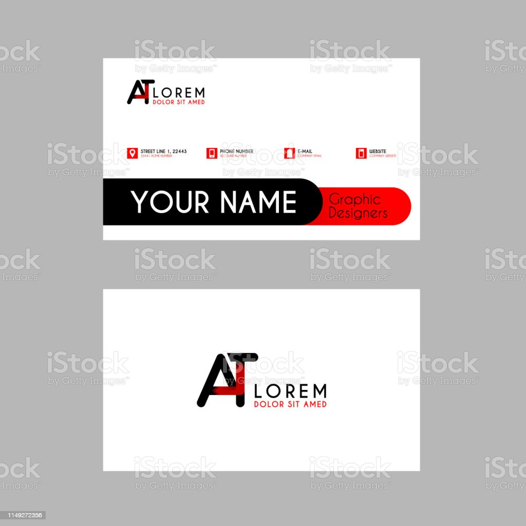 Moderne Creative Visitenkartentemplate Mit At Bbon Letter