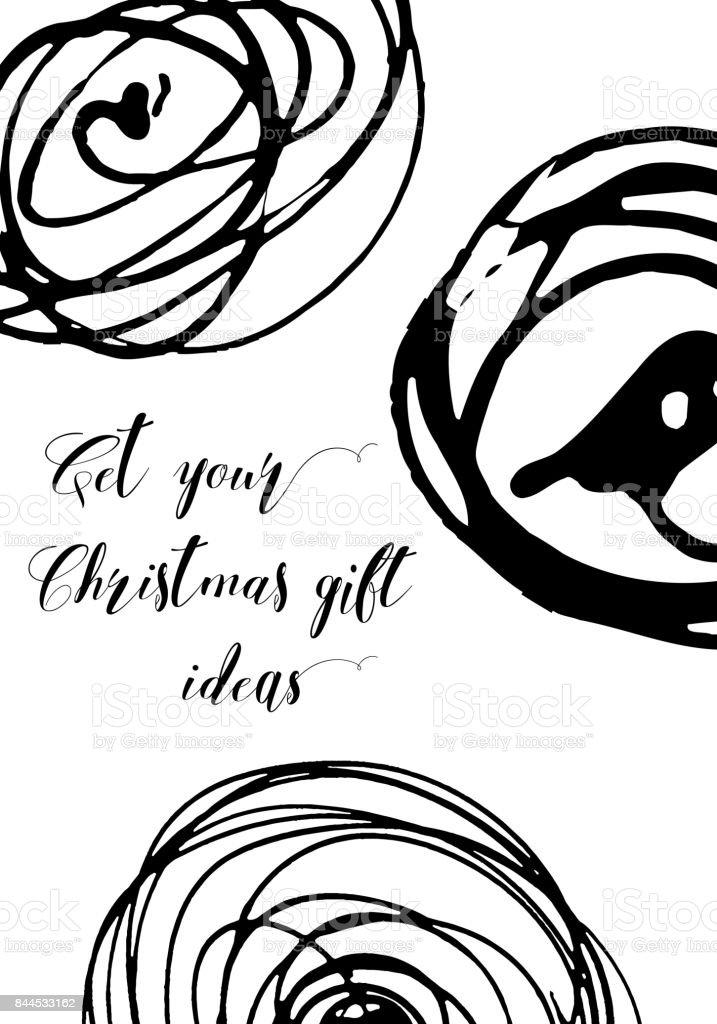Tarjetas De Navidad Creativas Modernas En Color Blanco Y Negro ...