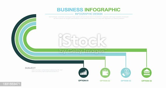 istock Modern Curve Circle Infographic Design Template stock illustration Abstract, Art, Art And Craft, Chart, Circle 1331553471