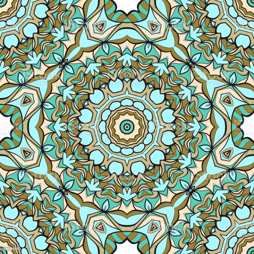 Modern Decorative Floral Mandala Pattern Luxury Texture For