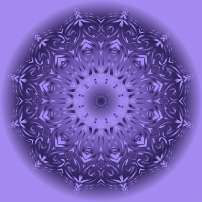 Modern Decorative round Vector Shapes. Floral mandala. Vector illustration. For design