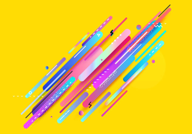 bildbanksillustrationer, clip art samt tecknat material och ikoner med modern design abstrakt illustration. färg trend element - tuff attityd