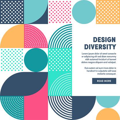 Modern Design Diversity Promo Banner Vector Design clipart