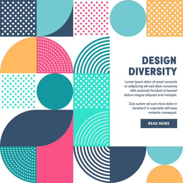 Modern Design Diversity Promo Banner Vector Design Modern and minimalistic design diversity web banner design to boost social network postings, business presentations, template slides or background designs. confidence stock illustrations