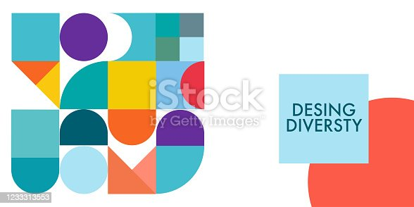 istock Modern Design Diversity Promo Banner Vector Design 1233313553