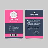 Modern design employee id card templates. Vector illustration EPS 10
