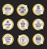 Modern design gold and silver sale badges collection