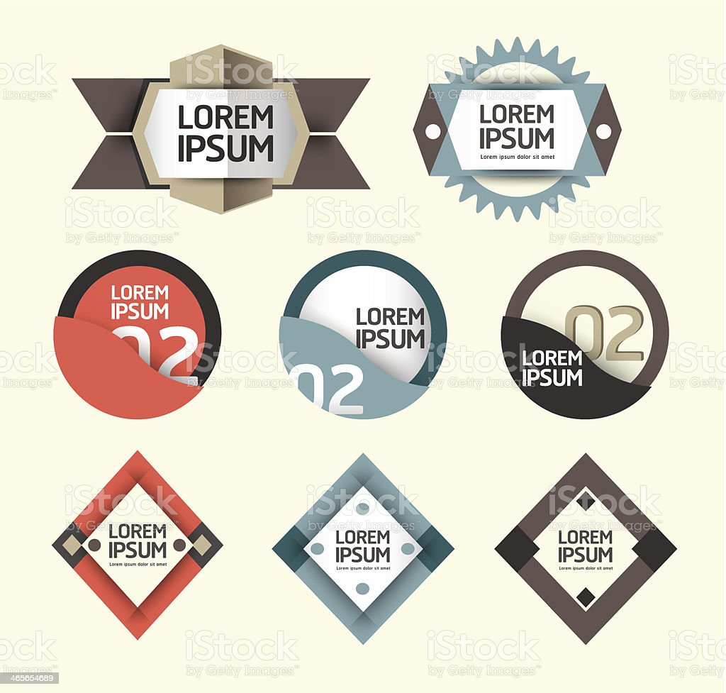 Modern Design Labels  banners. royalty-free stock vector art