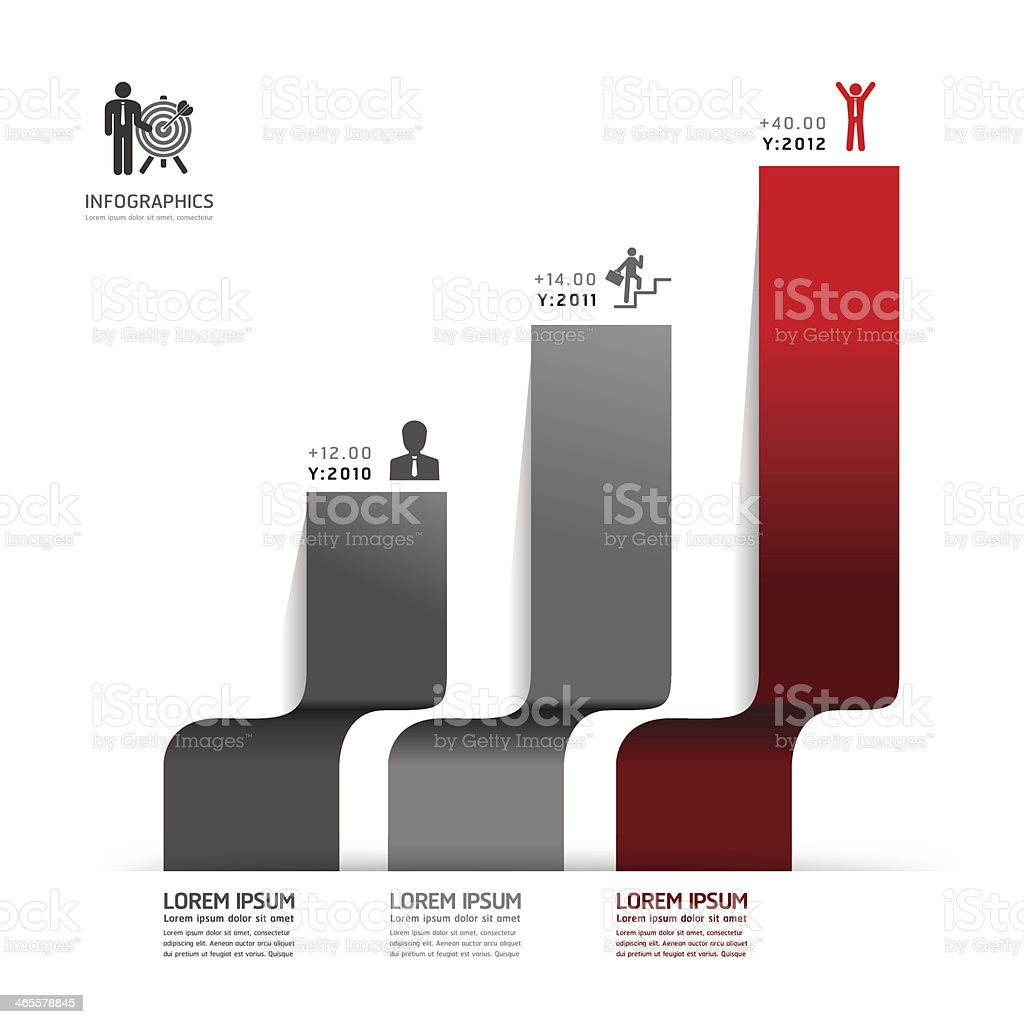 Modern Design Minimal style infographic template royalty-free stock vector art