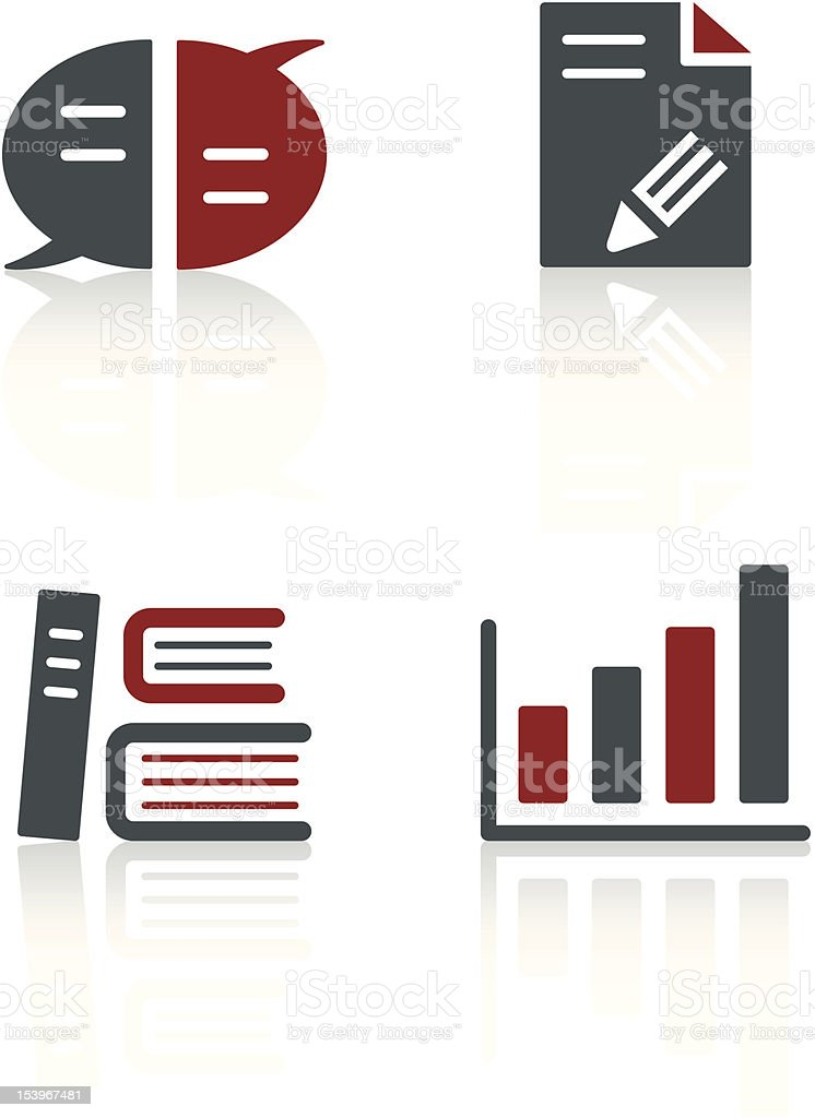 Modern design of office icons sets  royalty-free stock vector art