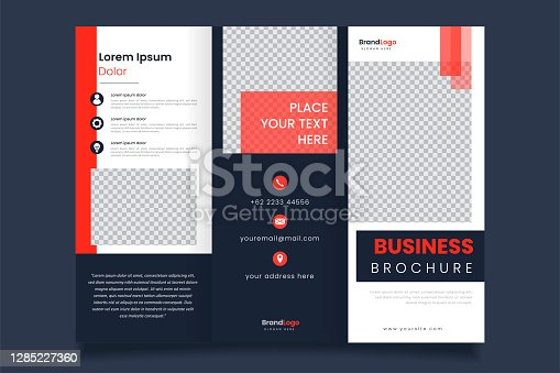 istock Modern design of triple business brochure template 1285227360