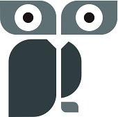 Modern design owl logo template