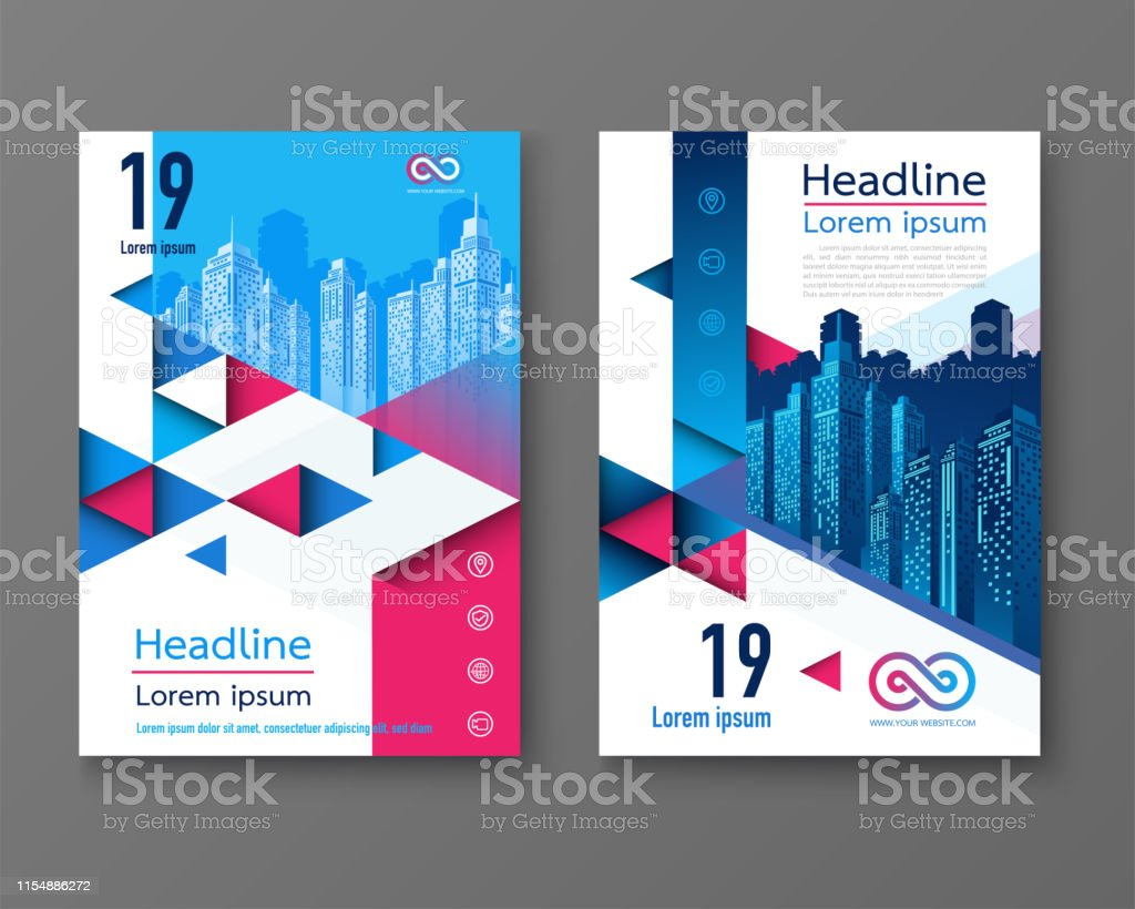 Modern design poster flyer brochure cover layout template with...