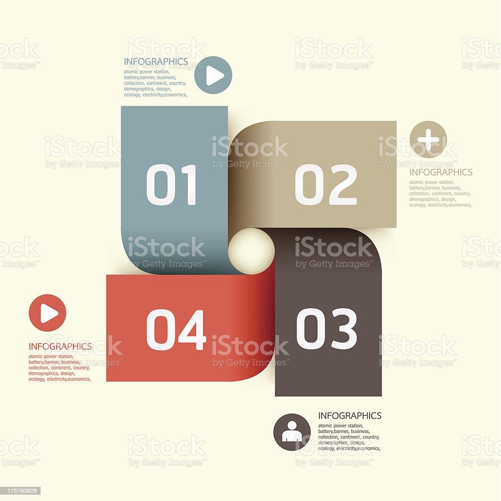 ソフトな色調モダンなデザインテンプレートのインフォグラフィックます