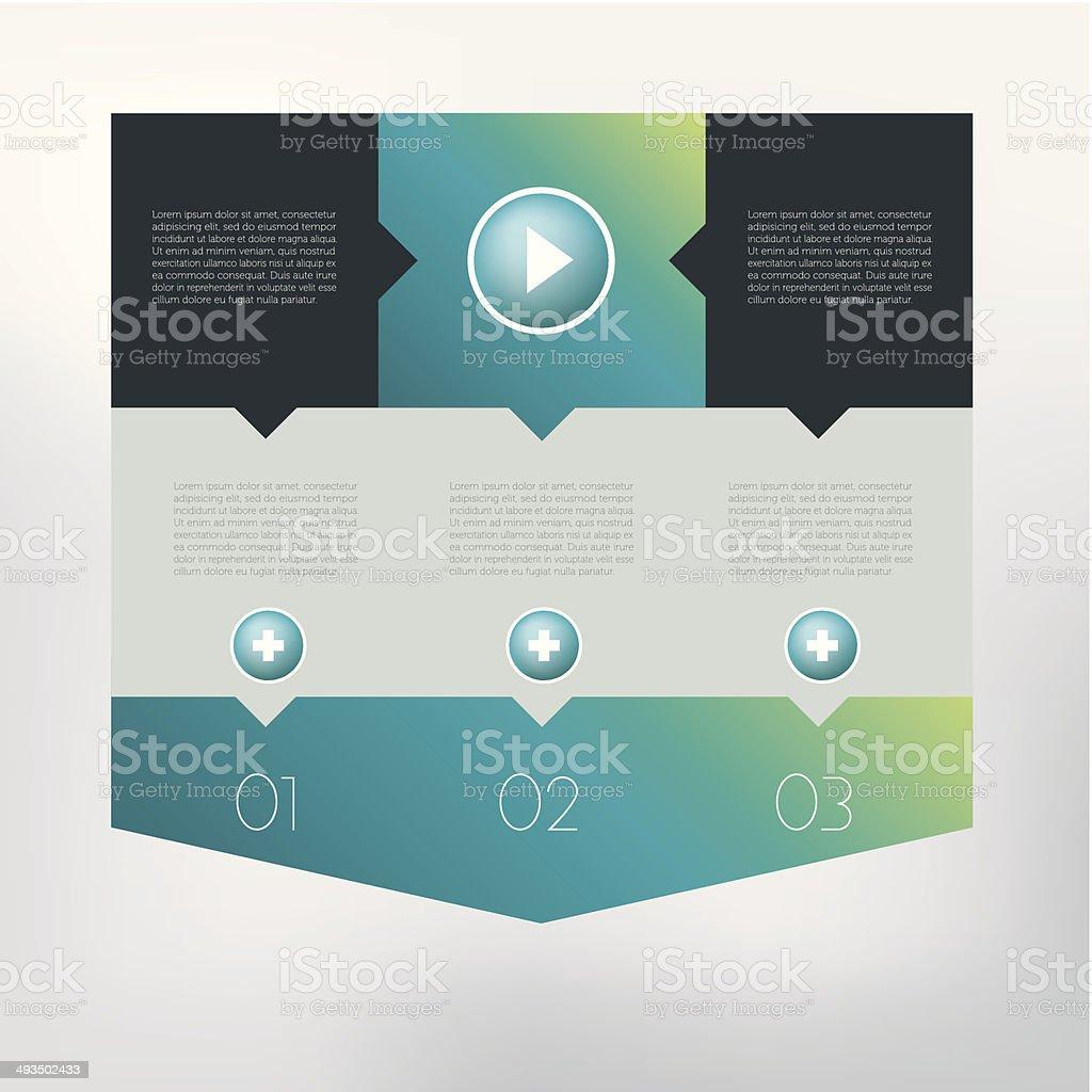 Modernes Design Rede Diagramm Für Infografik Stock Vektor Art und ...