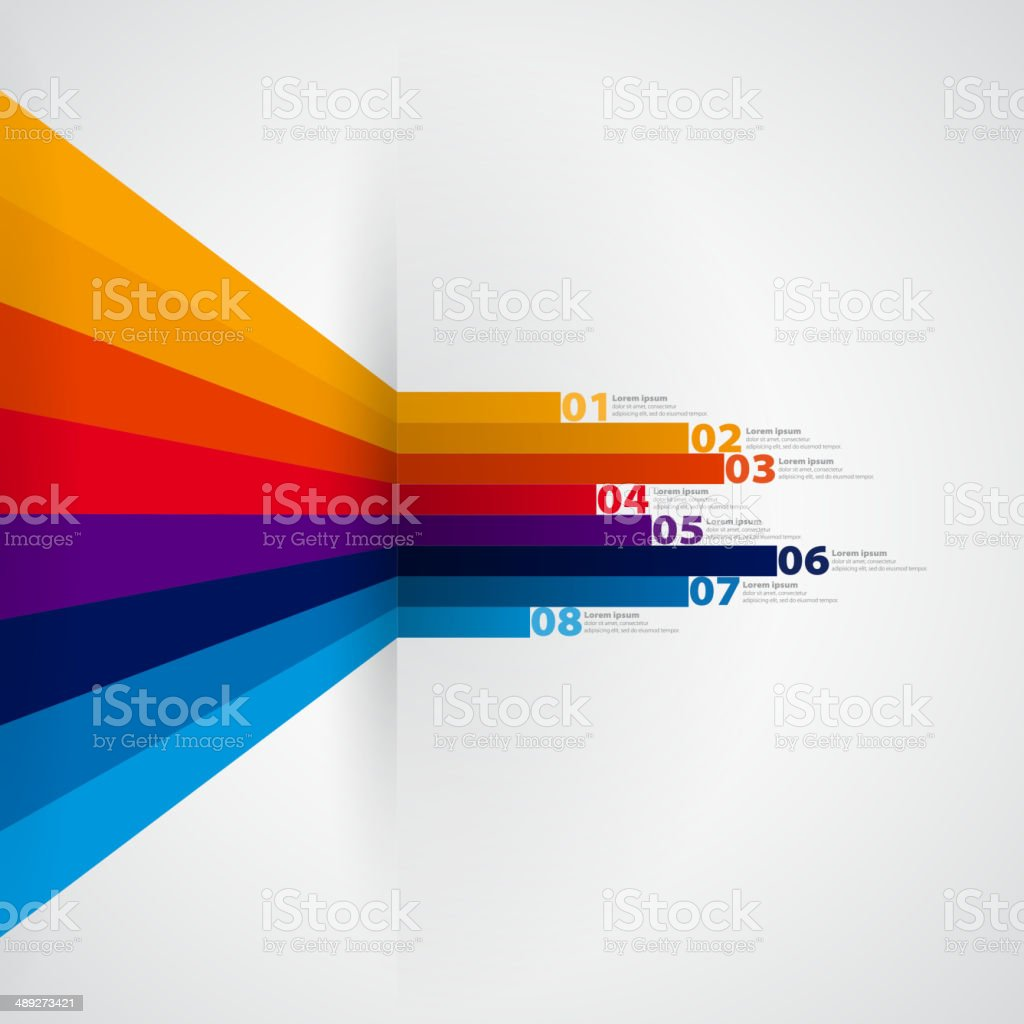 Modern Design template with numbered banners vector art illustration