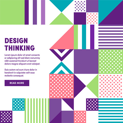 Modern Design Thinking Promo Banner Vector Design