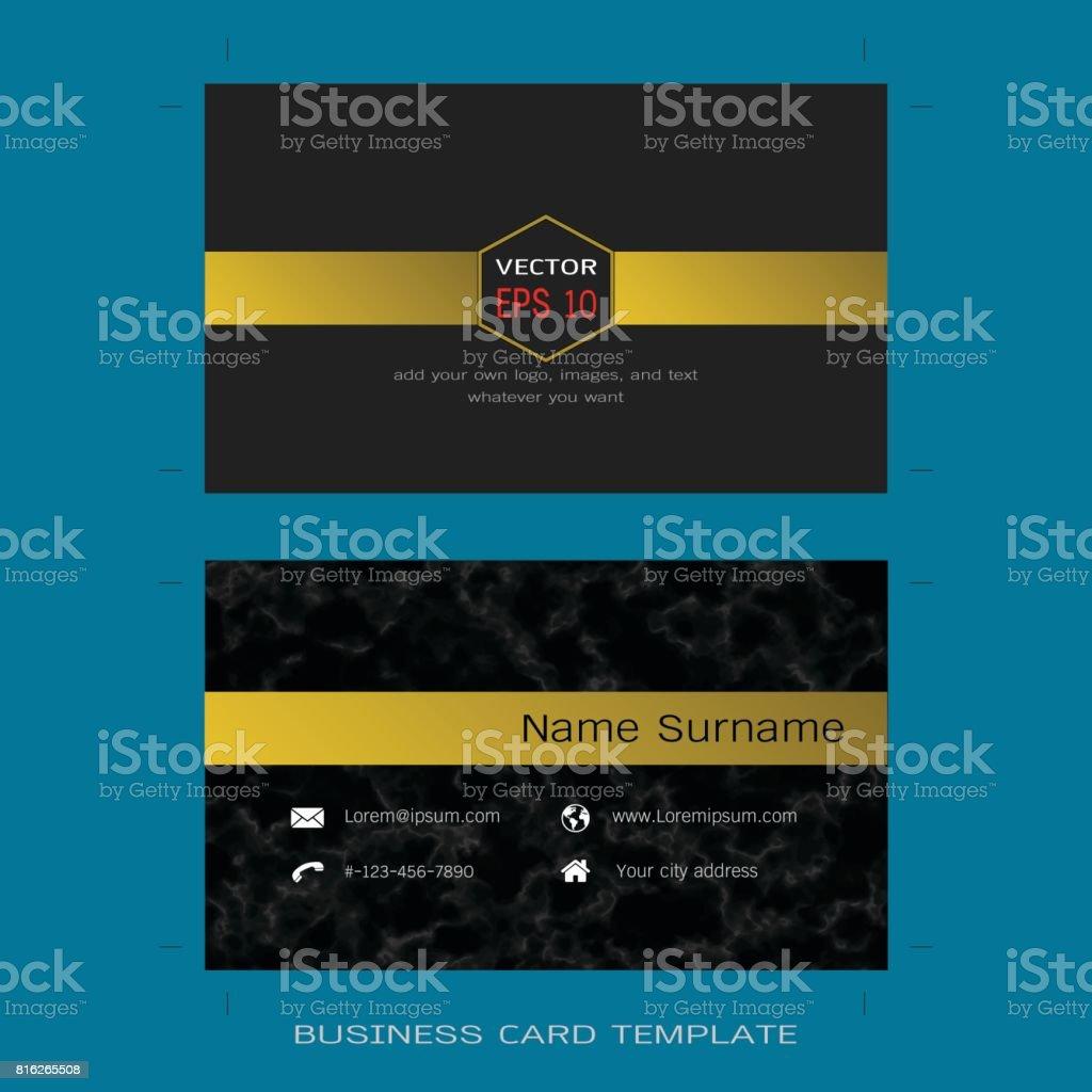 Modern designer business card layout templates black marble banner sign gold wallpaper decor web page website template modern designer business card magicingreecefo Gallery