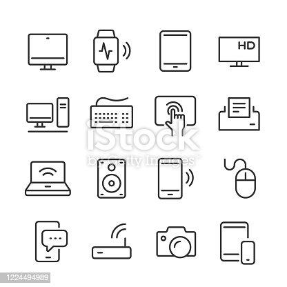 Modern Device Icons — Monoline Series