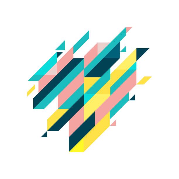 stockillustraties, clipart, cartoons en iconen met moderne diagonale abstracte achtergrond geometrische element. - triangel
