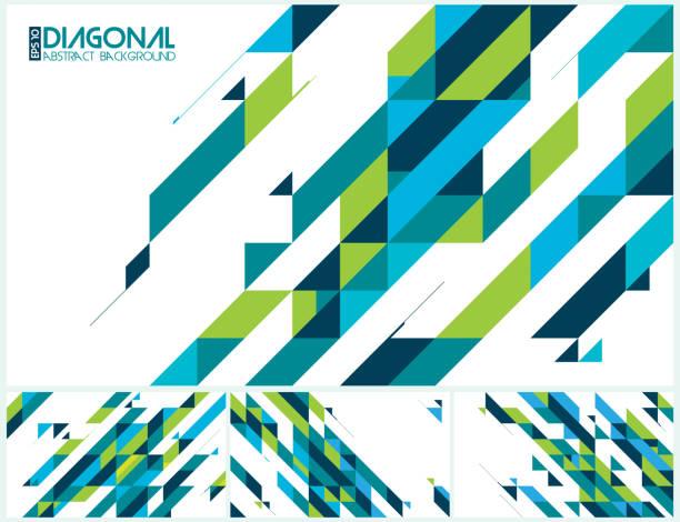ilustrações, clipart, desenhos animados e ícones de moderno abstrato diagonal - organic shapes