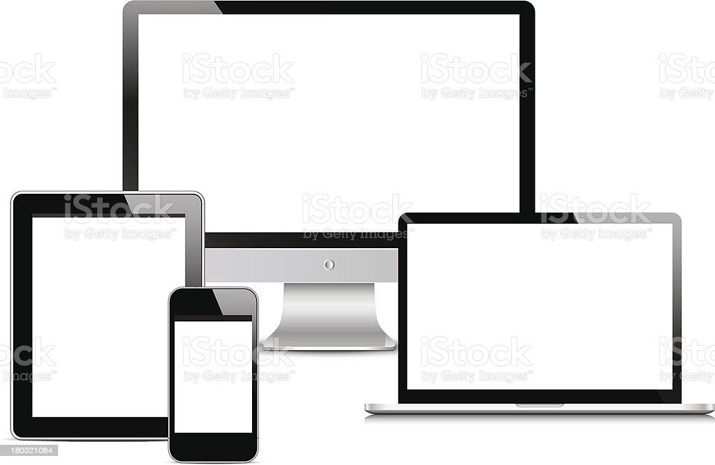Modern Digital devices royalty-free stock vector art
