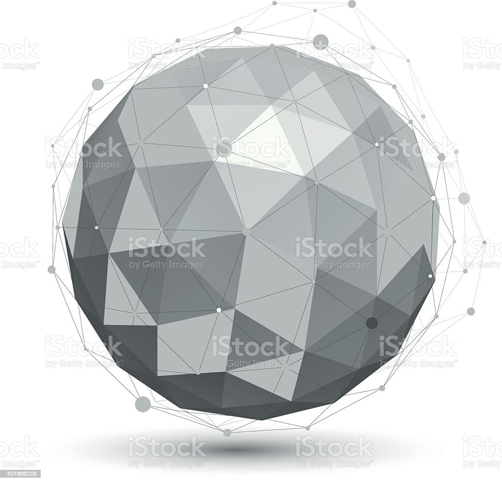 Modern digital technology ball, abstract unusual background royalty-free stock vector art