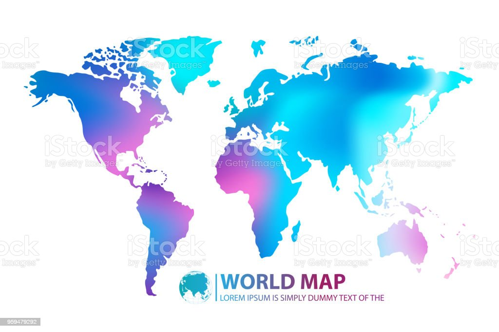 on digital world map download