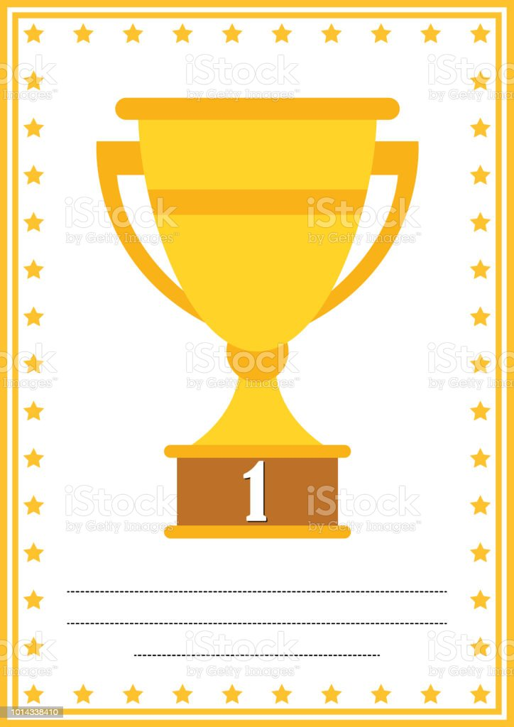 modern diploma with trophy certificate with place for your content