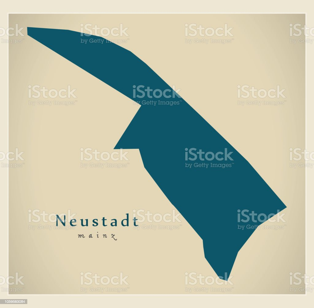Neustadt Germany Map.Modern District Map Mainz Neustadt Germany Stock Vector Art More