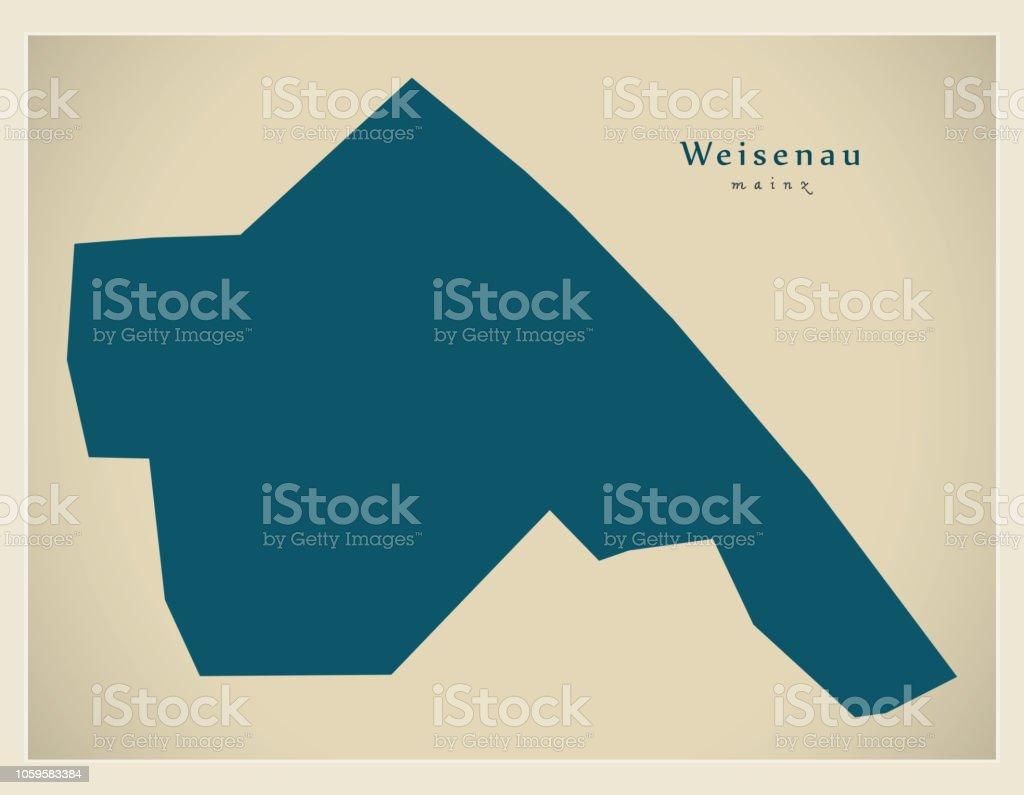 Modern District Map Mainz Weisenau Germany Stock Vector Art More