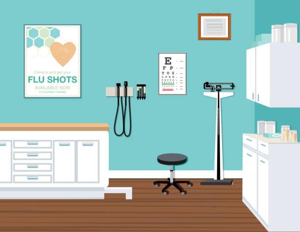 ilustrações, clipart, desenhos animados e ícones de escritório do doutor moderno - consultório médico
