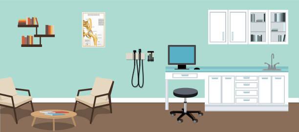 Modern Doctor's Office vector art illustration
