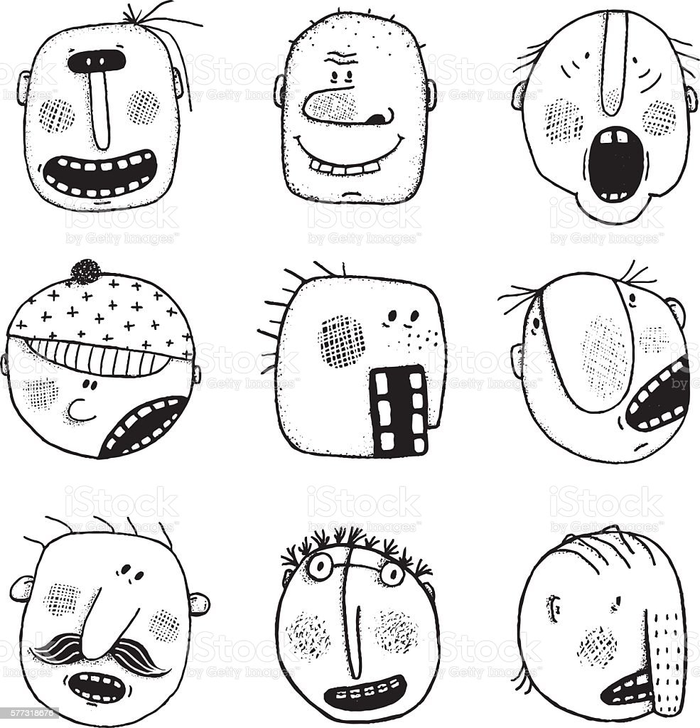 how to draw doodle people