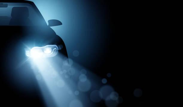 illustrations, cliparts, dessins animés et icônes de moderne conduite fond phares de voiture led - phare