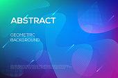istock Modern dynamic futuristic web design, landing page template. 1050335728