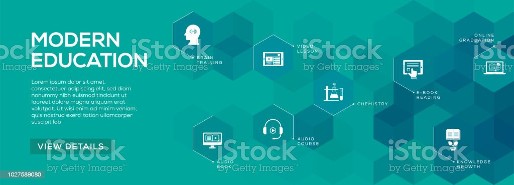 modern education banner design stock vector art more images of