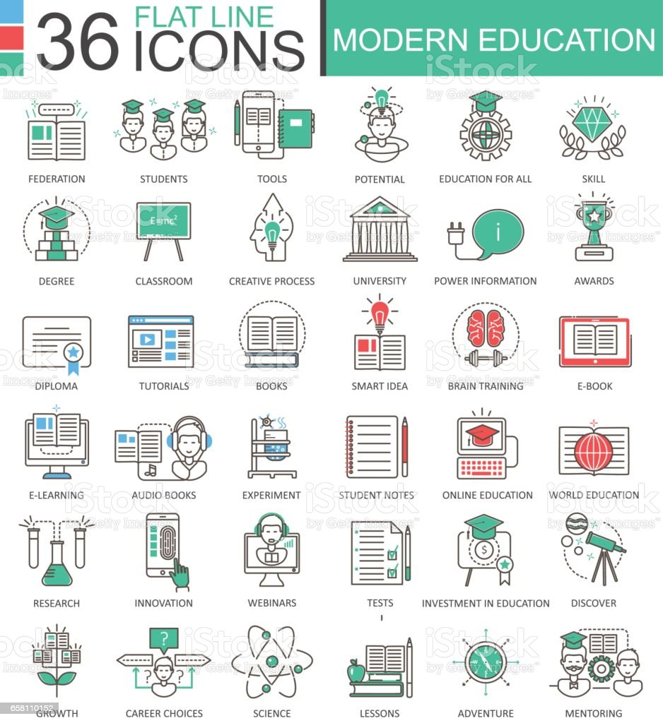 Modern education simple flat line royalty-free modern education simple flat line stock vector art & more images of certificate