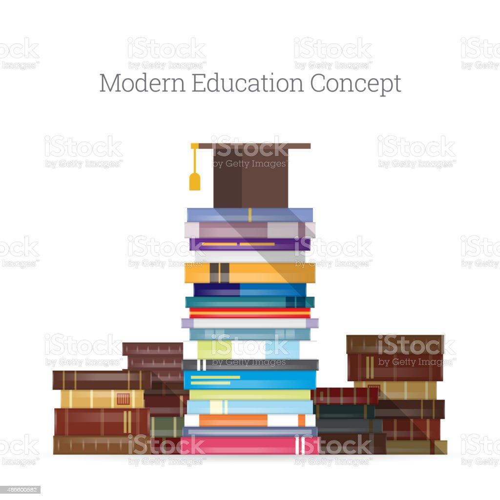 Modern Education vector art illustration