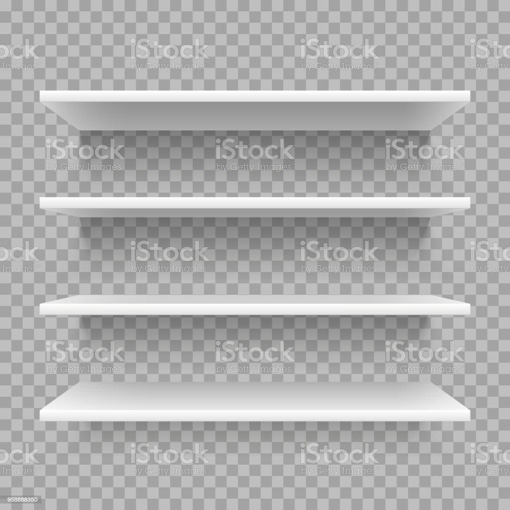 Witte Planken Aan De Muur.Moderne Lege 3d Boekenplank Retail Winkel Plank Op De Muur Witte