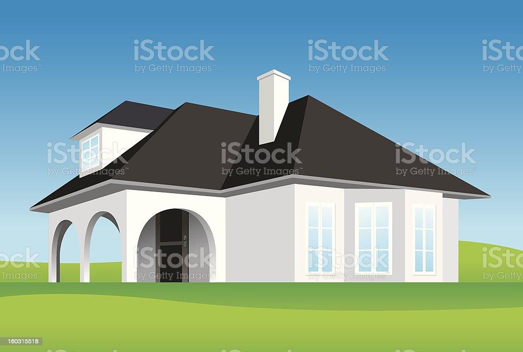 Modern family house royalty-free stock vector art