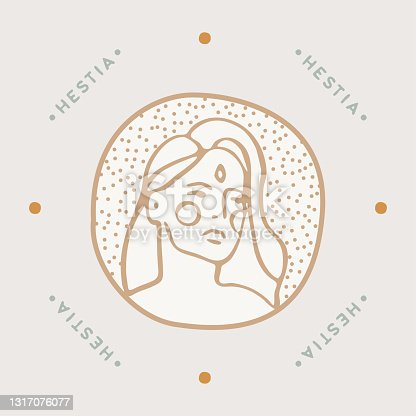 istock Modern feminine portrait women a logotype a vector 1317076077