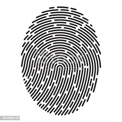 istock Modern fingerprint. Vector 504859140