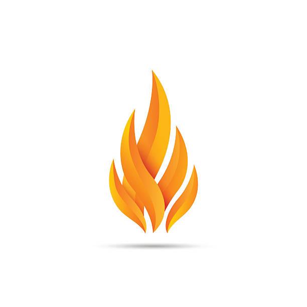 modern fire icon - feuer stock-grafiken, -clipart, -cartoons und -symbole