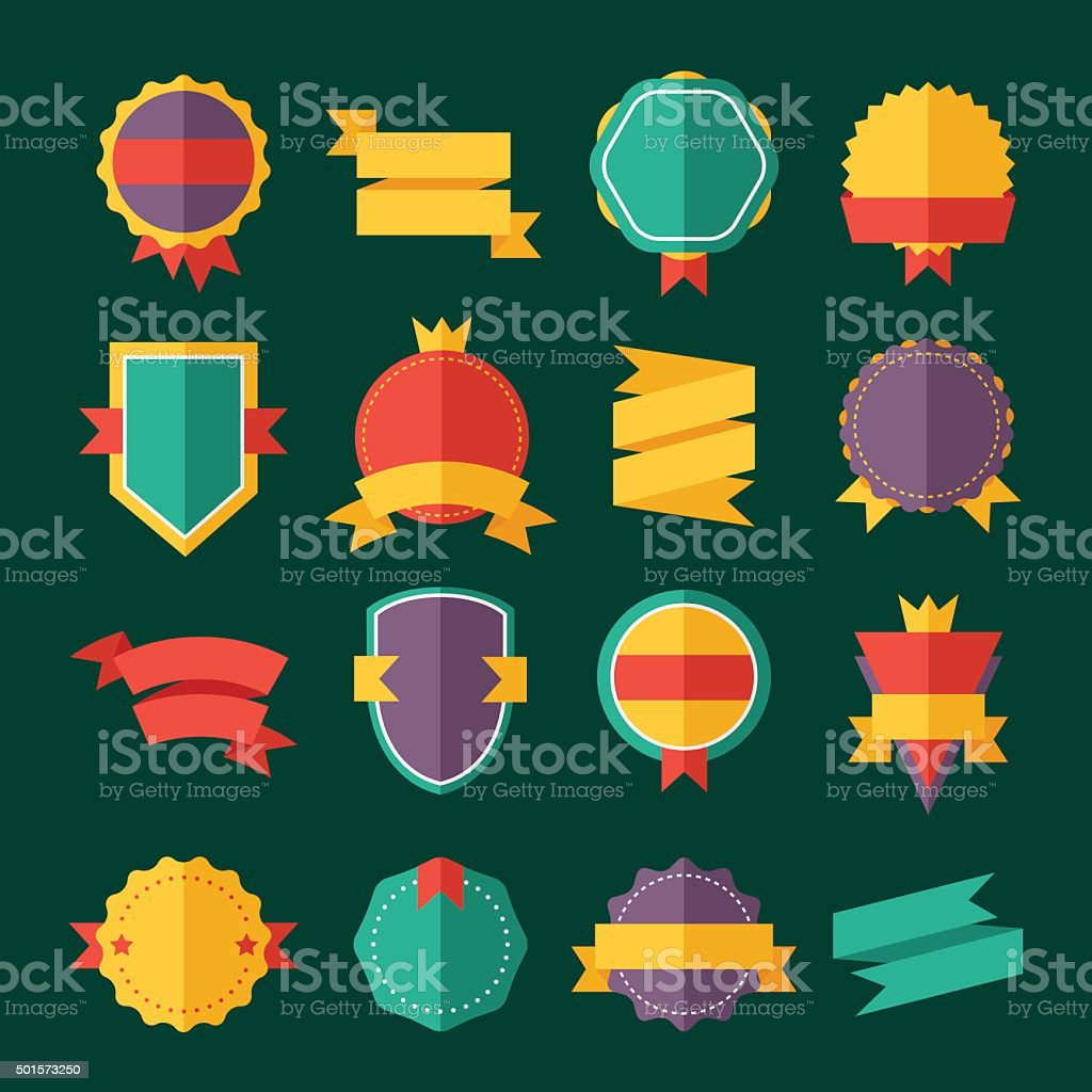 Modern Flat Design Badges Collection Stock Vector Art & More