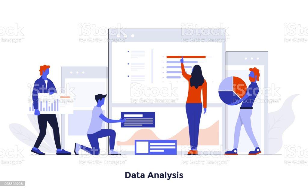 Moderna plattgränssnitt konceptet Illustration - dataanalys - Royaltyfri Abstrakt vektorgrafik