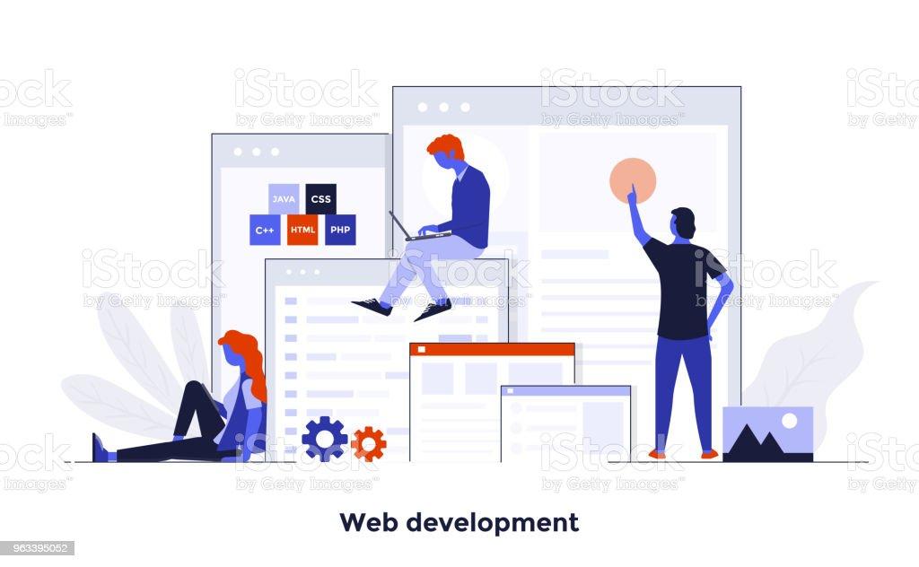 Modern Flat design Concept Illustration - Web Development - Grafika wektorowa royalty-free (Abstrakcja)
