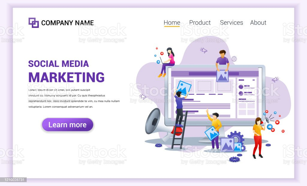 Modern Flat Design Concept Of Social Media Marketing Can Use For Banner Business Content Strategy Analysis Mobile App Landing Page Web Design Template Flat Vector Illustration Stock Illustration Download Image Now