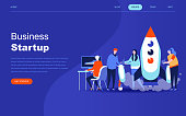 Modern flat design concept of Startup Your Project for website and mobile website development. Landing page template. Launch a new product on a business company. Vector illustration.