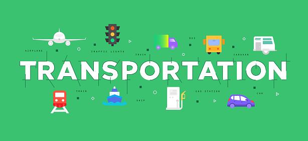 Modern flat design concept of transportation